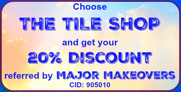 You can get a free 20% discount if you choose to buy your tile at The Tile Shop.