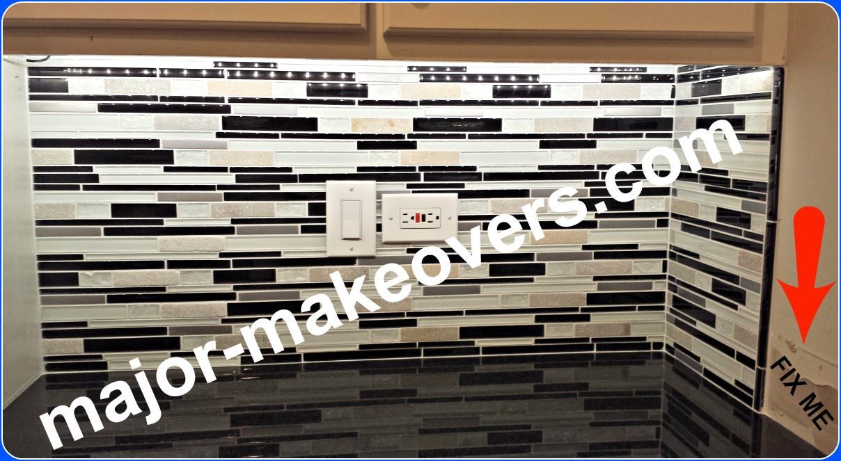 Smallest area of this backsplash is complete. Drywall/paint work to be done later. White grout was chosen by homeowner. Grout sealer applied. #BestHinsdaleTileInstaller #TileInstallationHinsdale60521